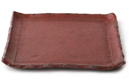 鉄赤正角皿