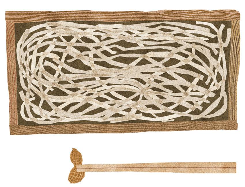 板蕎麦イラスト
